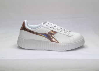 official photos f52ed 3e6b6 Scarpe DIADORA GAME STEP SHINY 101.174366 01 20006 WHITE