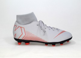 Scarpe NIKE AH7363 060 SUPERFLY 6 CLUB FG/MG WOLF GREY/LT CRIMSON-BLACK