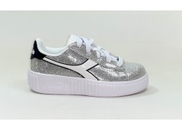 Scarpe DIADORA GAME STEP GLITTER PS 101.176740 01 90001 SILVER METALIZED